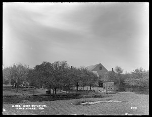 Wachusett Reservoir, James Moran's house and barn, on the easterly side of Sterling Street, from the southeast, West Boylston, Mass., May 19, 1898