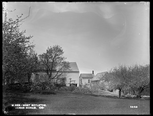 Wachusett Reservoir, James Moran's house and barn, on the easterly side of Sterling Street, from the southwest, West Boylston, Mass., May 19, 1898