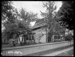 Wachusett Reservoir, James M. Wilson's house, on the southeasterly corner of Wheeler and Thomas Streets, from the northeast, Oakdale, West Boylston, Mass., Jun. 23, 1898