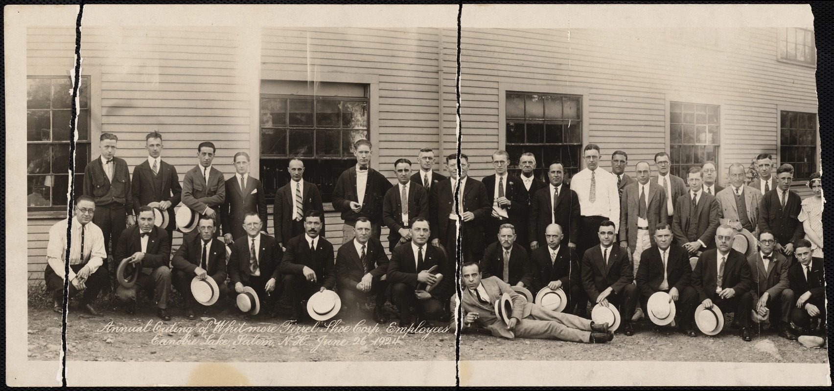 Annual outing of Whitmore Tirrel Shoe Corp., employees. Canobie Lake, Salem, N.H. June 26, 1924