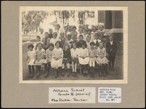 Athens School Grade II (1920-21), Miss Sladen - teacher