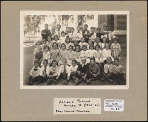Athens School Grade II (1920-21) Miss Beard - teacher