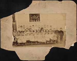 Martha J. Hawes class at Jefferson School, about 1891