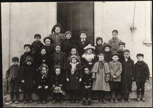 Adams School, about 1899. Miss Mathewson, teacher