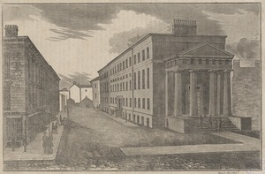 View of the new court house, Court Street, Boston
