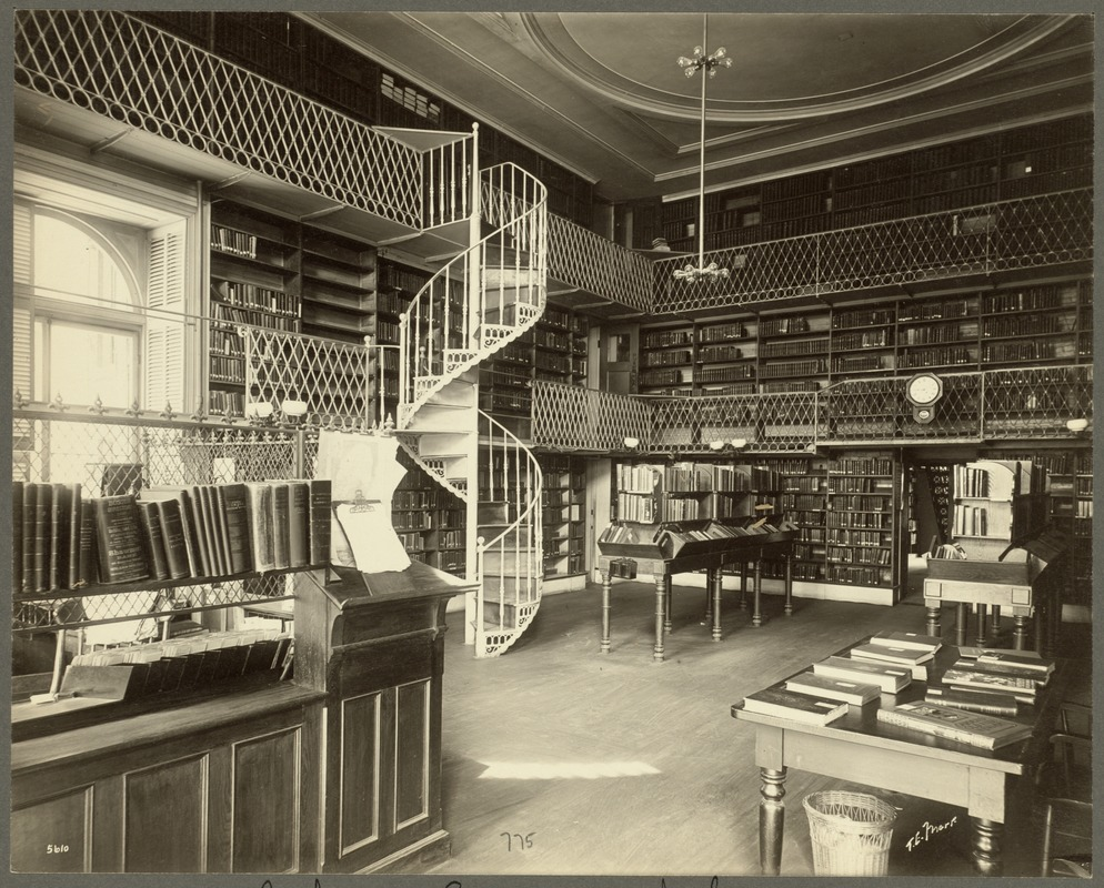 Boston Athenaeum. Interior