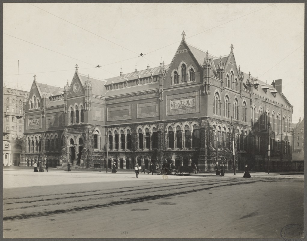 Boston, Massachusetts. Museum of Fine Arts, original building, Copley Square