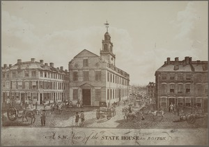 A s.w. view of the State House in Boston