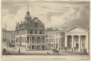 City Hall, and U.S.B. Bank, Boston Mass.