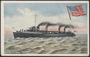 Torpedo Boat Destroyer Lawrence (length 240 feet, speed 28-41 knots)