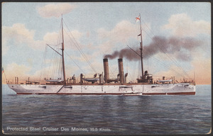 Protected Steel Cruiser Des Moines, 16.5 knots
