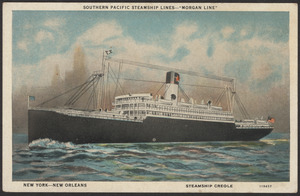 "Southern Pacific Steamship Lines ""Morgan Line,"" New York-New Orleans, Steamship Creole"
