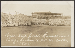 Baseball field, Guantanamo Bay, Cuba, U.S.S. No. Dakota, 1922
