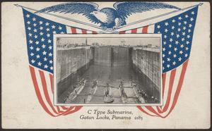C type submarine, Gatun Locks, Panama 2183