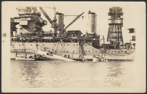 R-4 along side U.S.S. Cal. for repairs