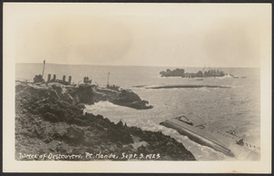 Wreck of destroyers, Pt. Honda, Sept. 3 1923