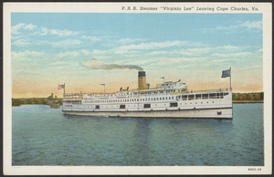 "P.R.R. Steamer ""Virginia Lee"" leaving Cape Charles, Va."