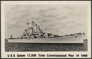 USS Salem 17,000 tons commissioned May 14 1949