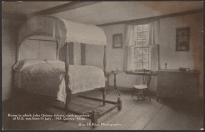 Room in which John Quincy Adams was born