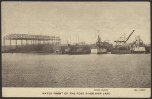 Water front of the Fore River Ship Yard