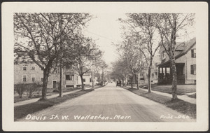 Davis St. W., Wollaston, Mass