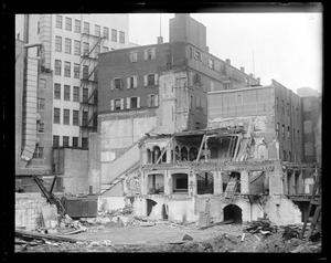 Boston Theatre being torn down