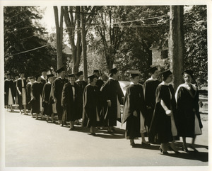 Abbot Academy 1957 Commencement: Faculty procession