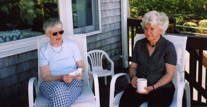 Abbot Academy Alumnae Class of 1954: Sylvia Thayer, Nancy Donnelly