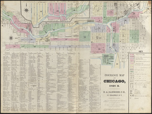 Insurance map of Chicago, 1868-9