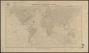Magnetic variation chart for the year 1882
