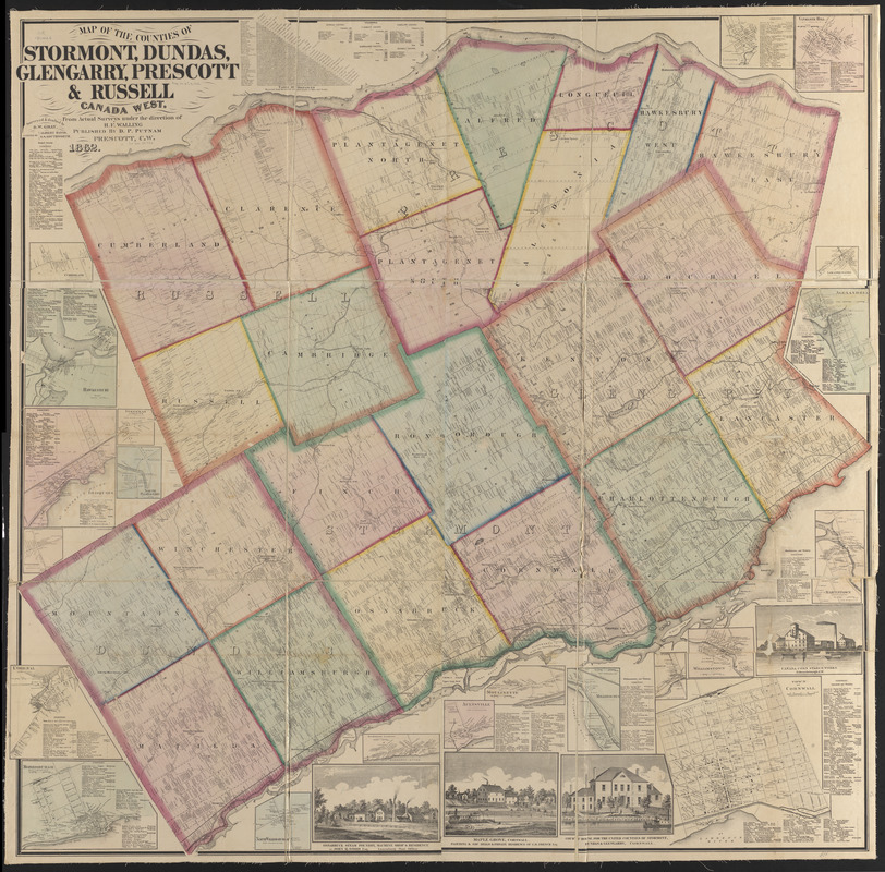 Map of the counties of Stormont, Dundas, Glengarry, Prescott ... Map Direction Canada on cache creek map directions, amazon rainforest map directions, edmonton map directions, africa map directions, car map directions, california map directions, maine map directions,