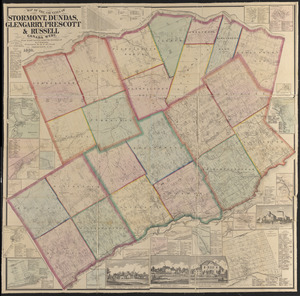 Map of the counties of Stormont, Dundas, Glengarry, Prescott & Russell, Canada West