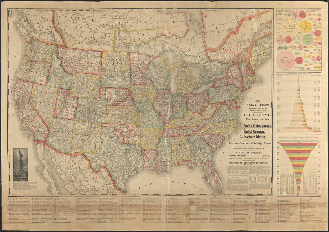 F.T. Neely\'s new commercial map of the United States, Canada ...