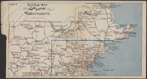 Bicycle map of north eastern Massachusetts