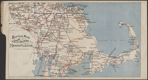 Bicycle map of south eastern Massachusetts