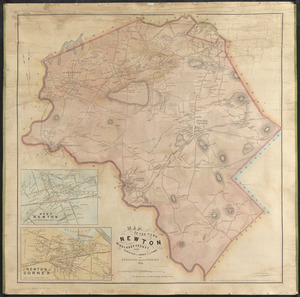 Map of the town of Newton, Middlesex County, Mass.