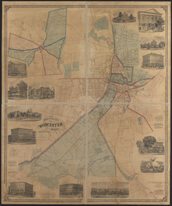 Map of the city of Worcester, Mass.