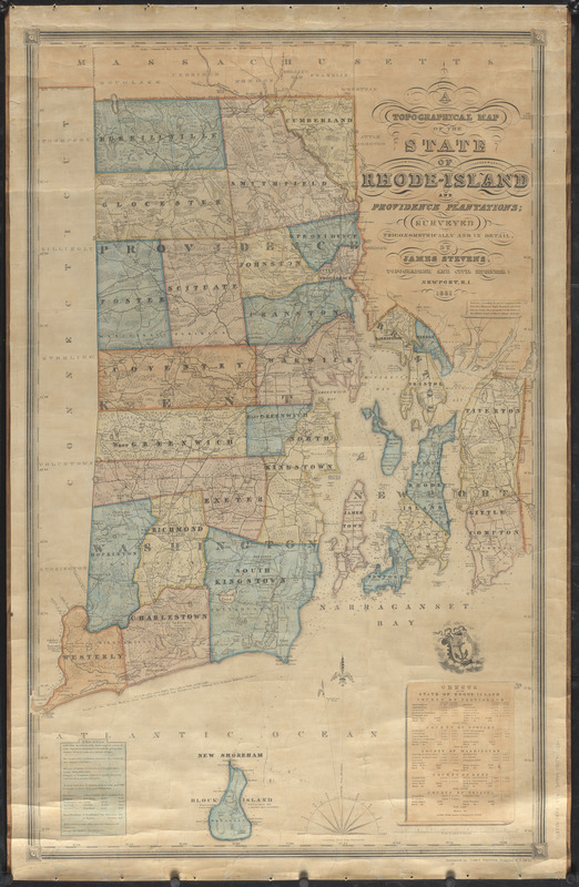A topographical map of the state of Rhode-Island and Providence Plantations