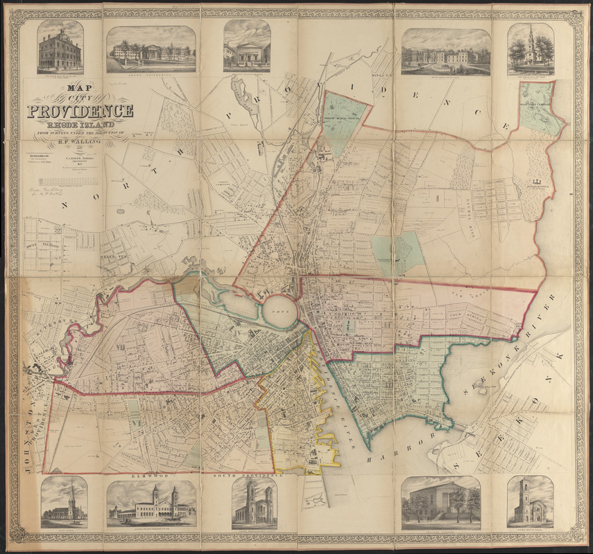 Map of the city of Providence, Rhode Island - Norman B. Leventhal ...