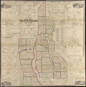 Map of Cayuga and Seneca counties, New York