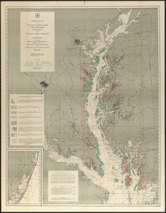 Index chart of natural oyster bars, crab bottoms, clam bars and triangulation stations of Maryland surveyed by Maryland Shell Fish Commission in cooperation with United States Bureau of Fisheries and United States Coast and Geodetic Survey, 1906-1912