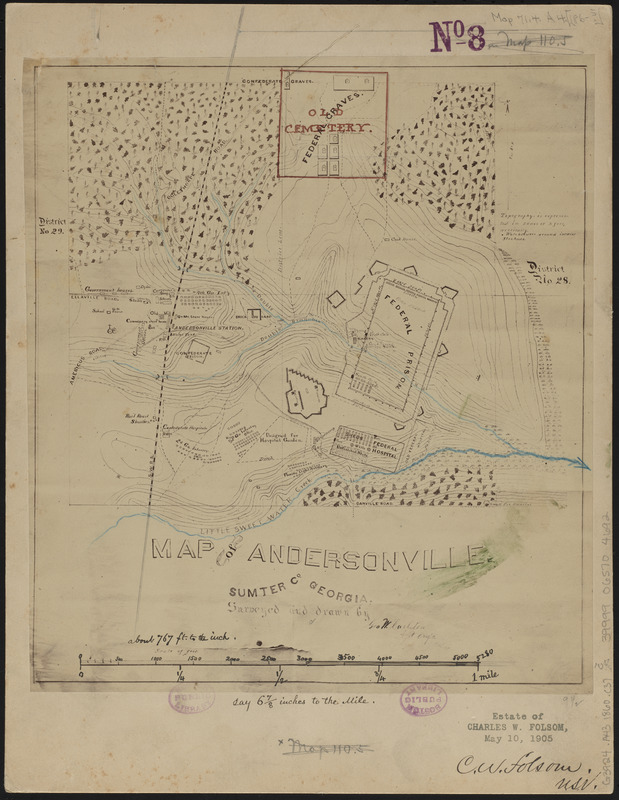 Map of Andersonville, Sumter Co., Georgia