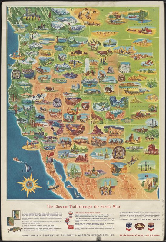 The Chevron trail through the scenic west - Norman B. Leventhal Map on