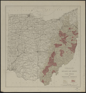 State of Ohio coal fields and producing districts