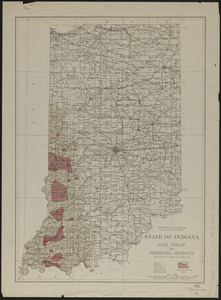 State of Indiana coal fields and producing districts