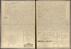 Sectional & topographical map of Holmes County, Ohio