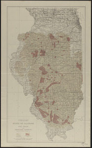 State of Illinois coal fields and producing districts