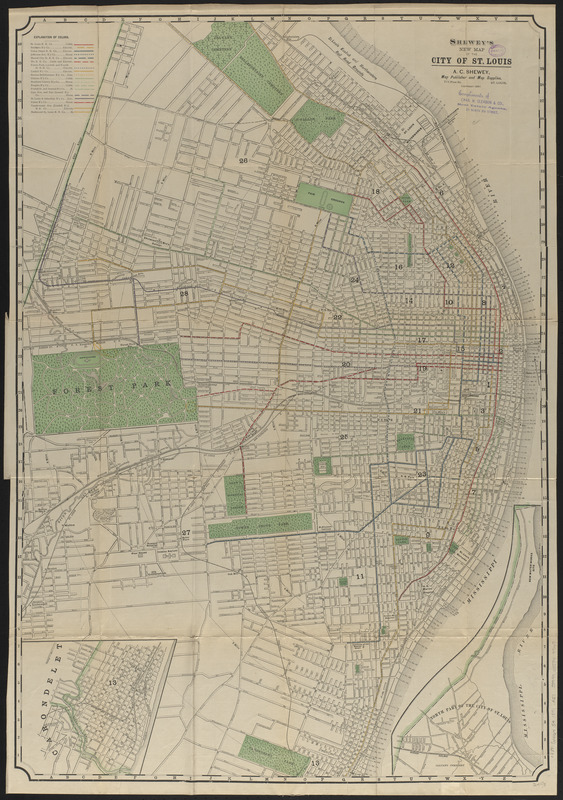 Shewey's new map of the city of St. Louis