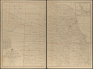 Post route map of the states of Kansas and Nebraska showing post offices with the intermediate distances on mail routes in operation on the 1st of December, 1903