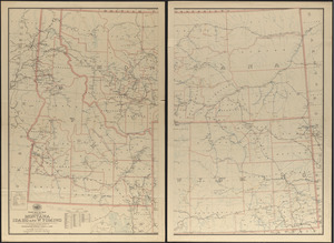 Post route map of the territories of Montana, Idaho, and Wyoming showing post offices with the intermediate distances on mail routes in operation on the 1st of September, 1897